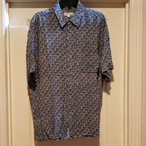 Pierre Cardin rayon short sleeve casual shirt L